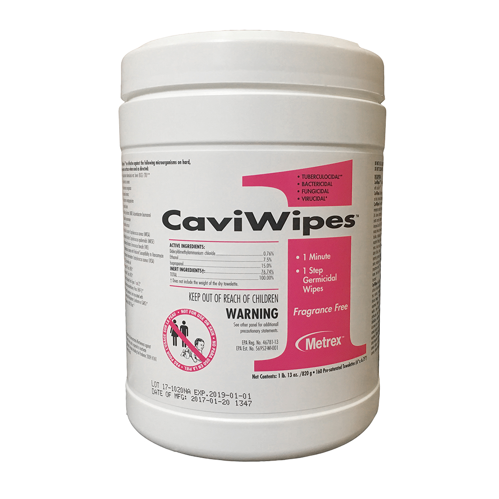 CaviWipes1™ Cleaner & Surface Disinfectant - Regular Size