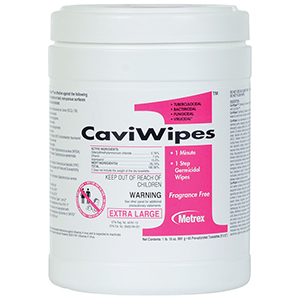 CaviWipes1™ Cleaner & Surface Disinfectant - XL Size