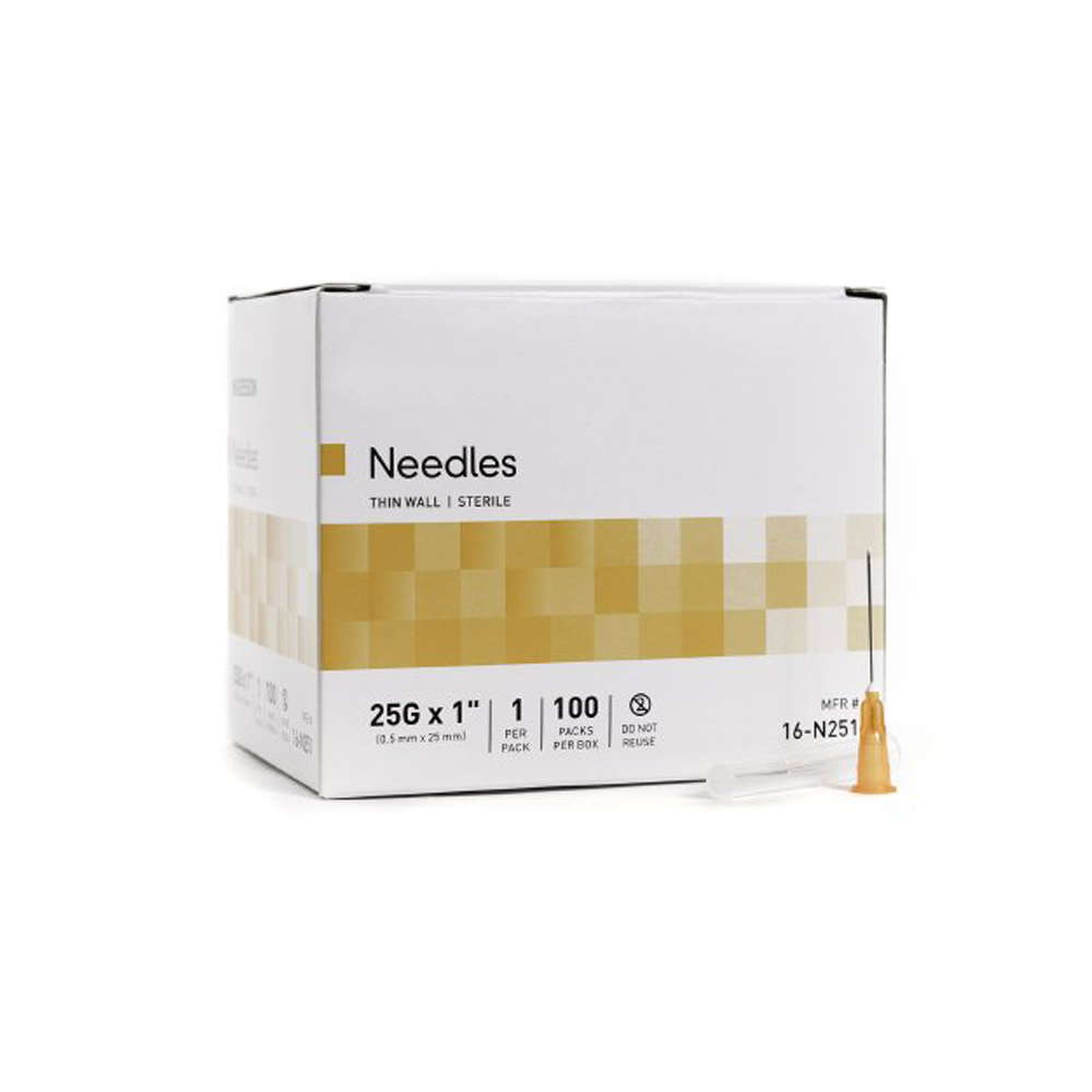 Hypodermic Surgical Needles 25G x 1