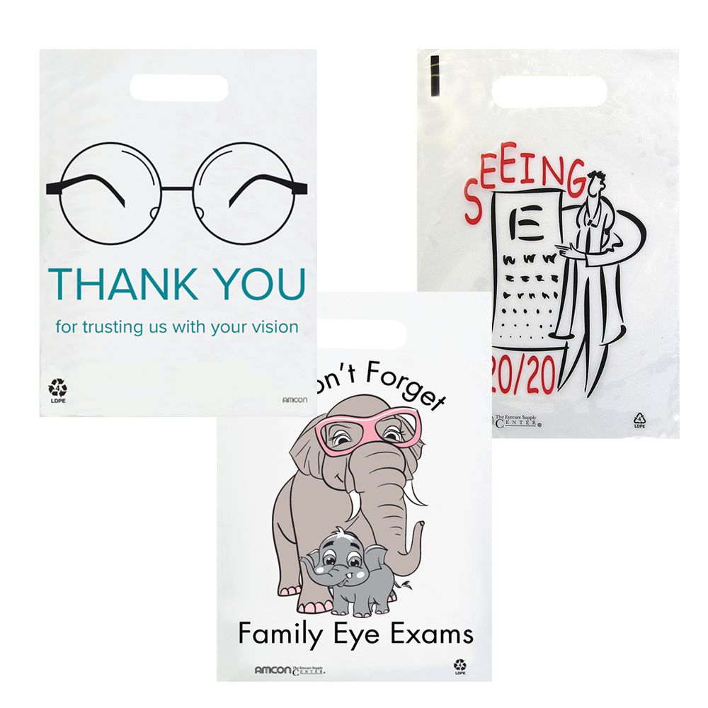 Small Clear Eye Care Supply Bags