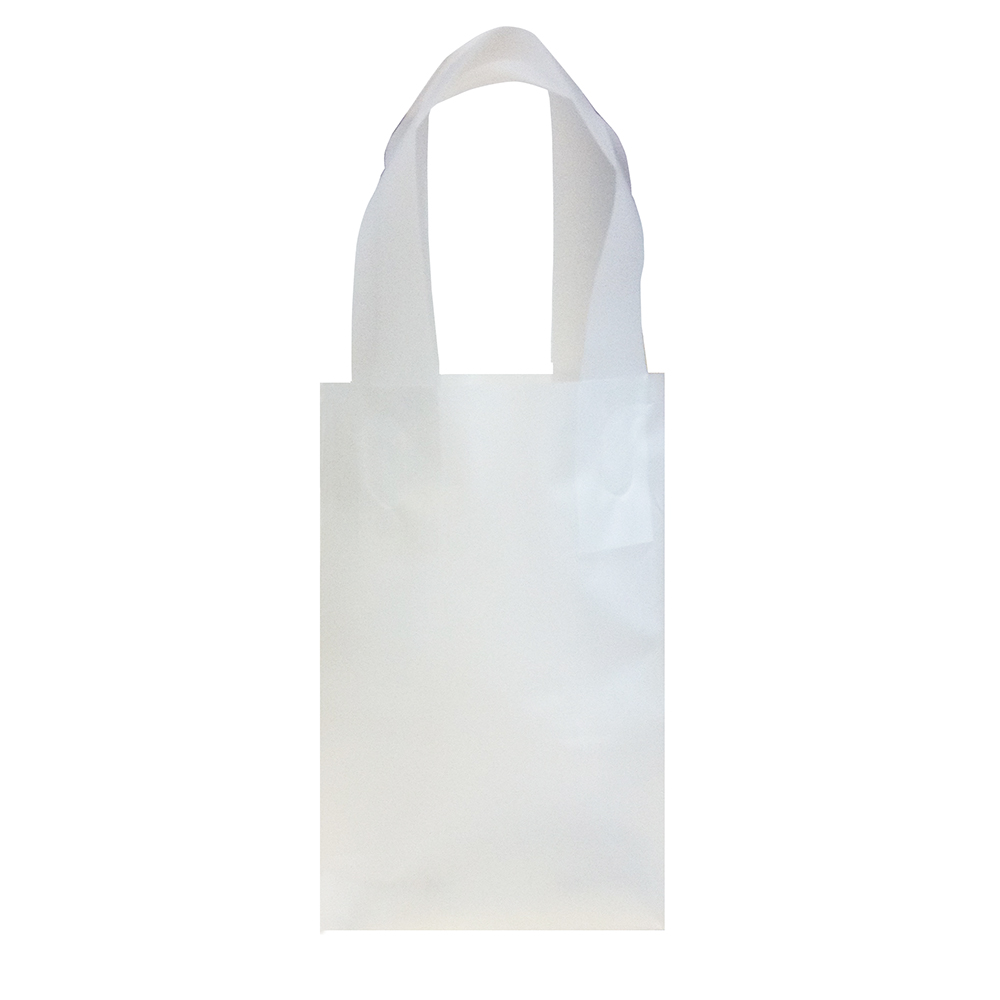 Small Clear Plastic Frosted Shopping Bag: Retail Bags ...