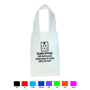 Small, Clear, Frosted Shopping Bag - Personalized