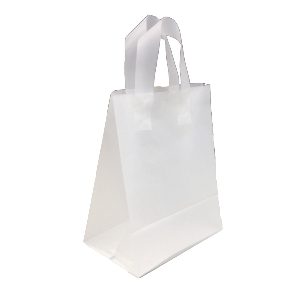 Personalized Medium, Clear, Frosted Shopping Bag