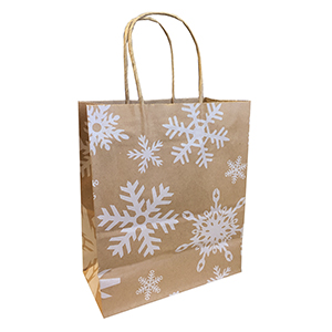 Snowflake Kraft Bag