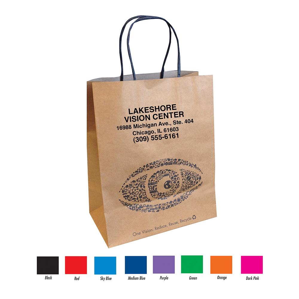 Imprinted Eco Friendly Kraft Paper Bag