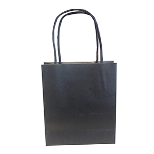 Small, Black, Eco-Friendly Kraft Paper Bags