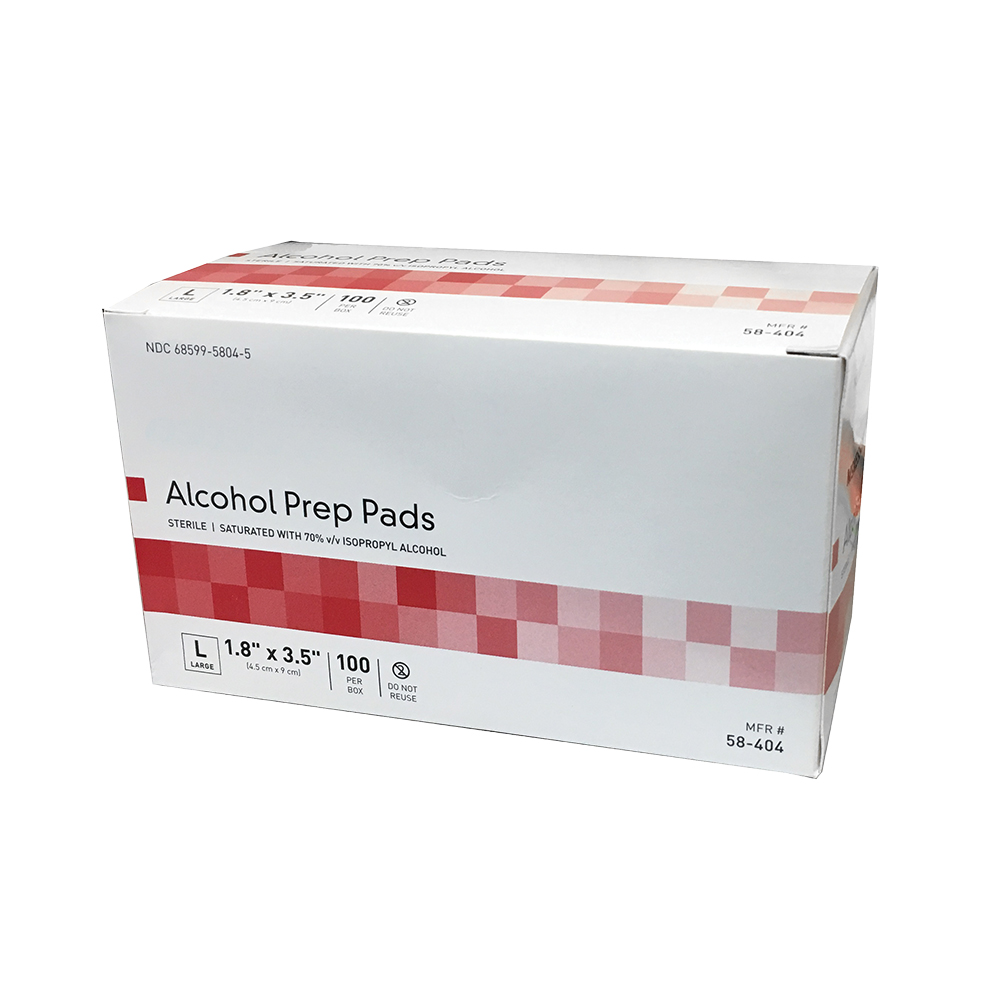 Alcohol Pads: Large Size by the case