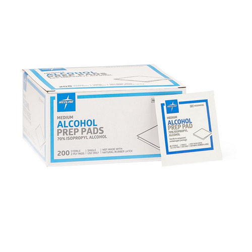 Medline Medium Sterile Alcohol Prep Pads