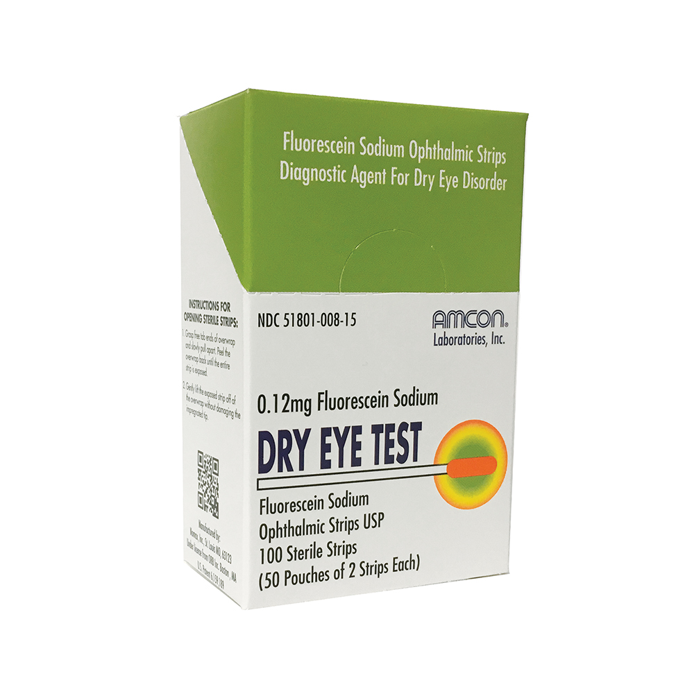 Dry Eye Test (DET) Strips  by Amcon - 0.12mg
