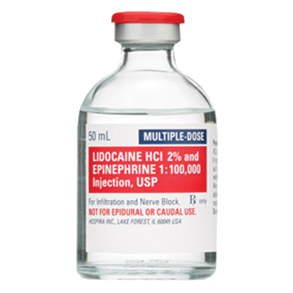 Injectable Lidocaine HCl 2% with Epinephrine 20mg/mL (50mL)