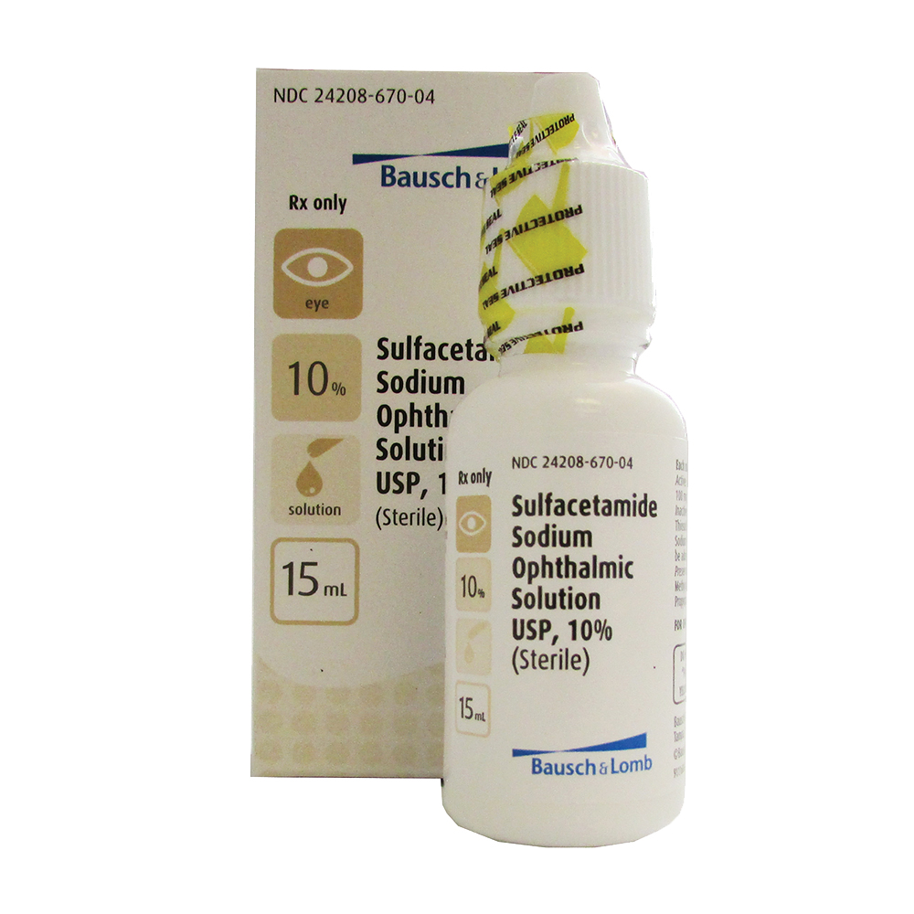 Sulfacetamide Sodium Ophthalmic Solution 10% by Bausch & Lomb