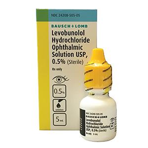 Related Product: Levobunolol 0.5%
