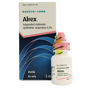 Alrex® (Loteprednol Etabonate Ophthalmic Suspension 0.2%) by Bausch & Lomb