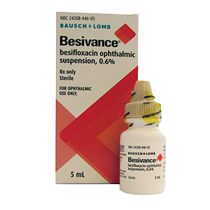 Besivance® (besifloxacin ophthalmic suspension) 0.6% by Bausch & Lomb