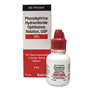 Related Product: Phenylephrine Hydrochloride Ophthalmic Solution, USP 10%