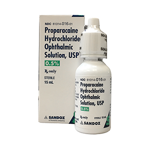 Proparacaine 0.5% - by Sandoz