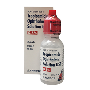 Tropicamide 0.5% by Sandoz