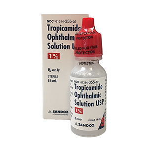 Tropicamide 1% by Sandoz