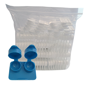 Flat Packs - RIBBED Extra-Deep Well by Amcon - in Bags
