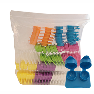 Related Product: Flat Packs - RIBBED Extra-Deep Well by Amcon - in Mixed Bags