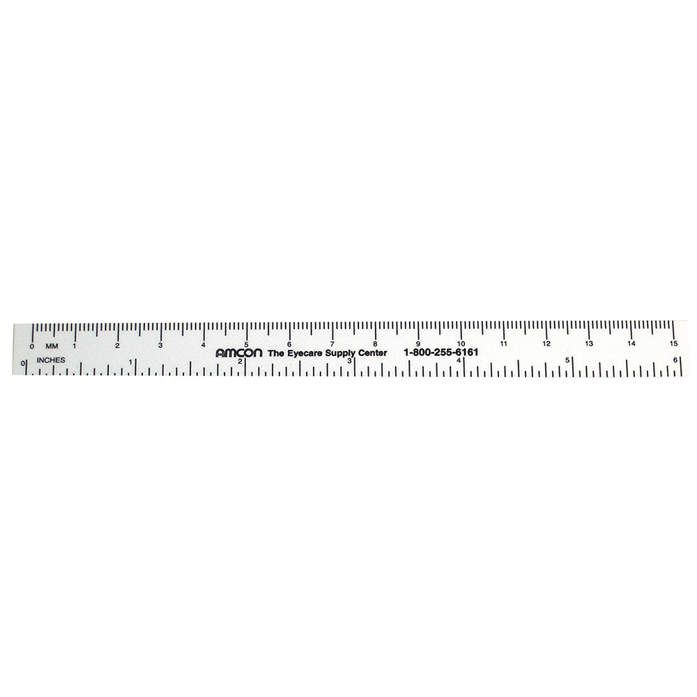 White PD Ruler -6 Inch