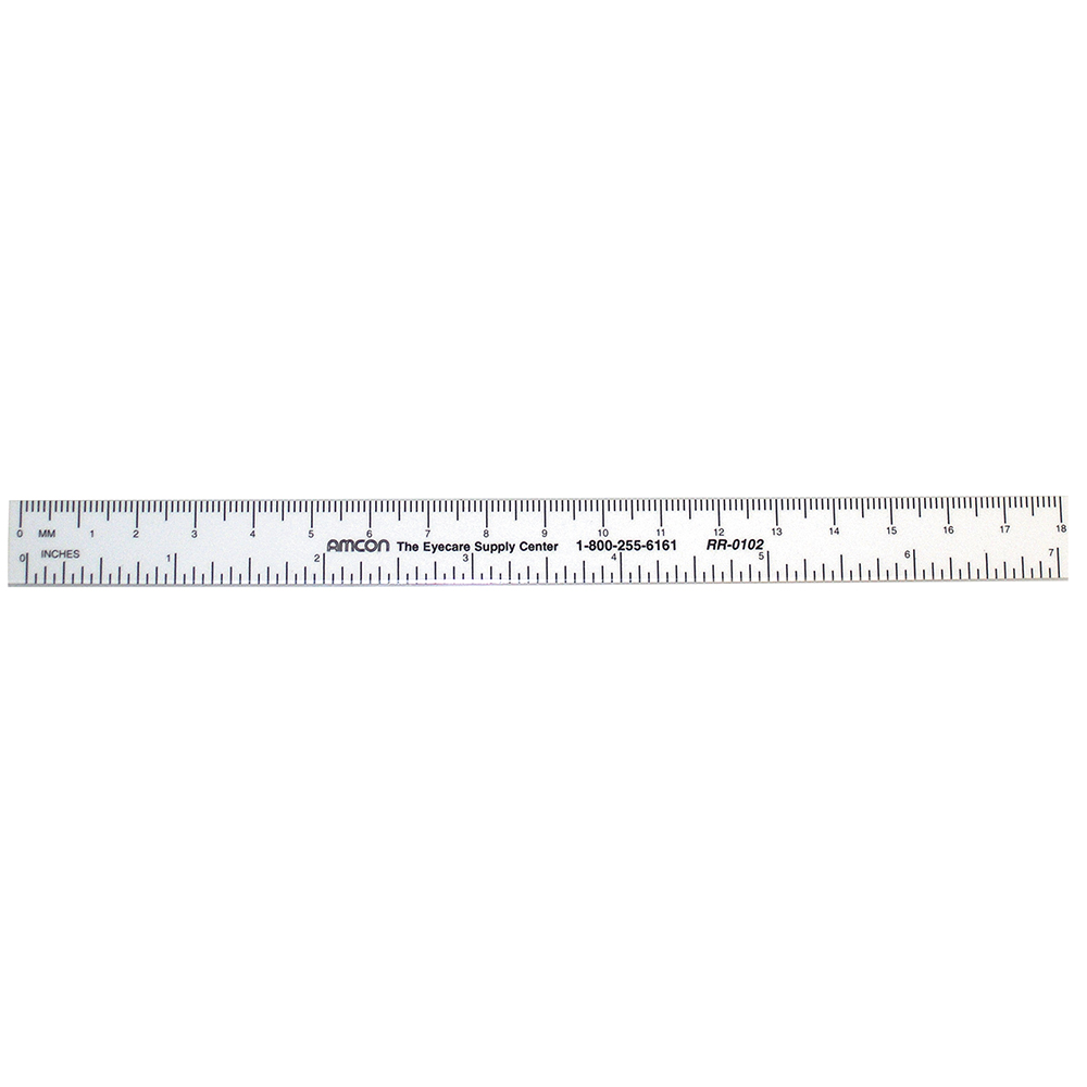 White PD Ruler -7 Inch