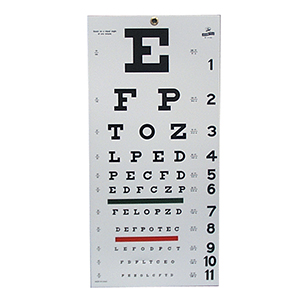 Related Product: Snellen Eye Chart - 20' Distance
