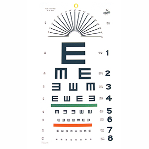 Related Product: Tumbling E Eye Chart - 20' Distance