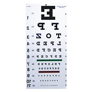 Related Product: Reversed Snellen Chart - 20' Distance