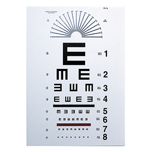 Tumbling E Eye Chart - 10' Distance