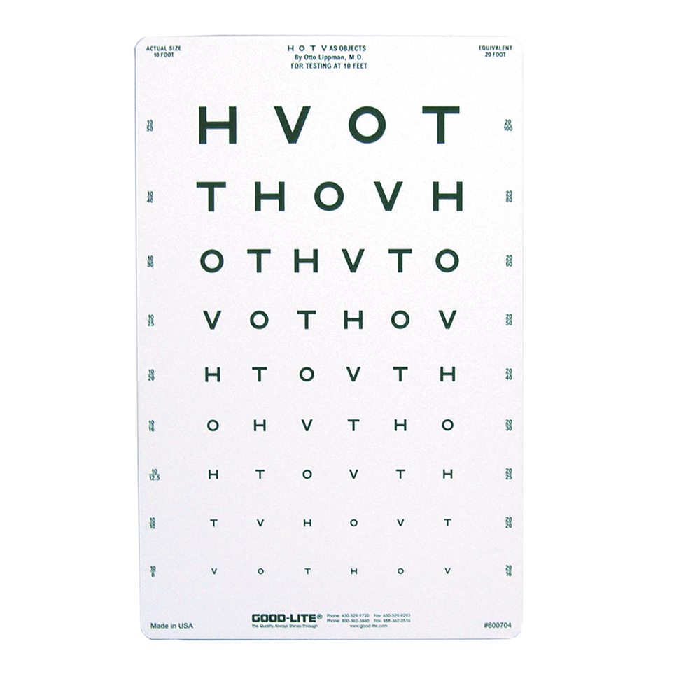 Eye cards eye charts vision assessment amcon labs the hotv eye chart 10 distance nvjuhfo Image collections