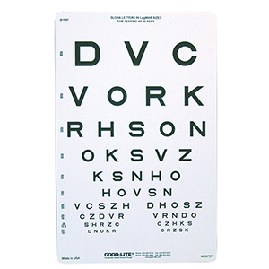 Related Product: Sloan Letter Eye Chart - 20' Distance