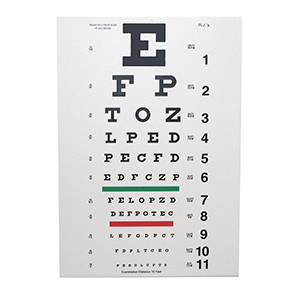 Related Product: Snellen Eye Chart - 10' Distance