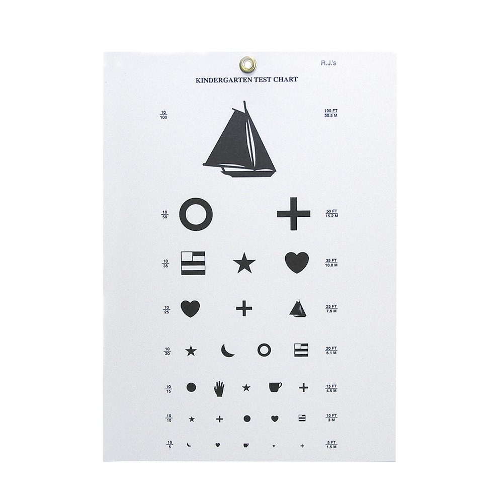 Kindergarten Eye Chart - 10' Distance
