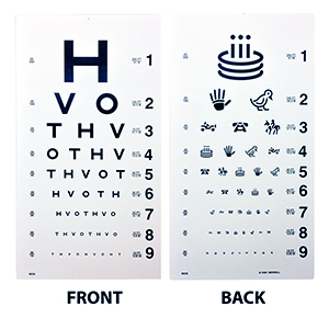 Related Product: HOTV Eye Chart - 20' Distance