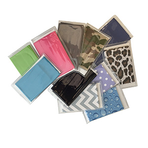 Premium Polished Microfiber Cleaning Cloths with Case