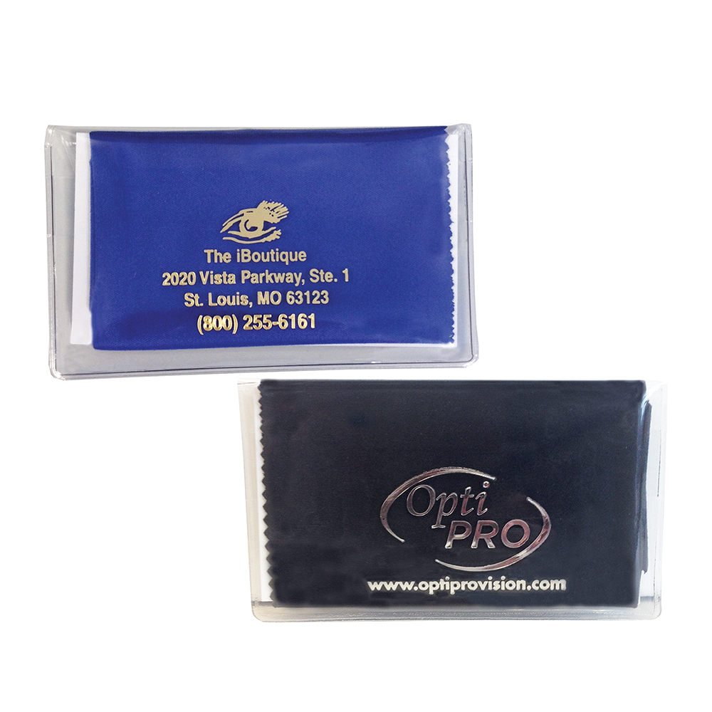 Premium Polished Microfiber Cleaning Cloth with Hot Stamped Case