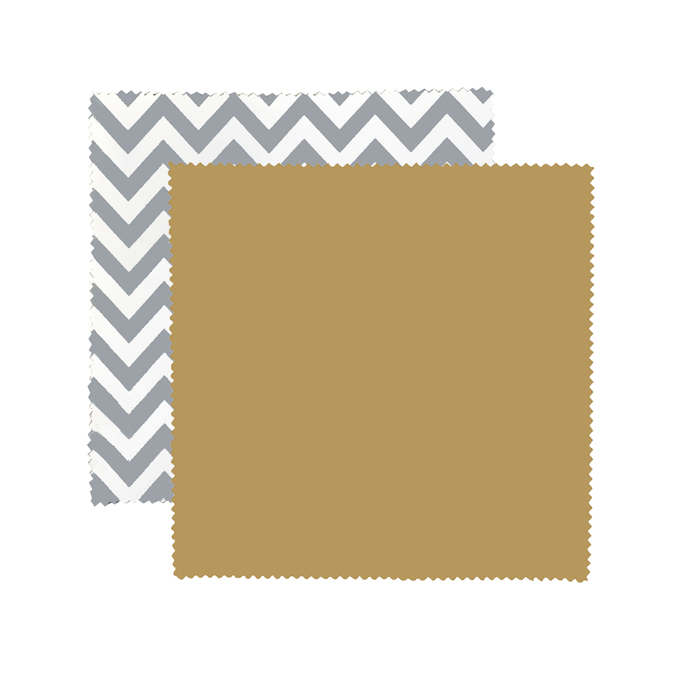 Gray Chevron Premium Polished Microfiber Cloth
