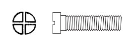 Hinge and Eyewire Screw SW-0131 (Phillips Head)