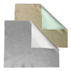 Related Product: Two-Tone Sateen Microfiber Cleaning Cloth - in Bulk
