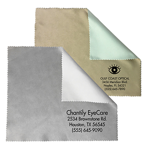 Related Product: Two-Tone Sateen Microfiber Cleaning Cloth - Imprinted in Bulk