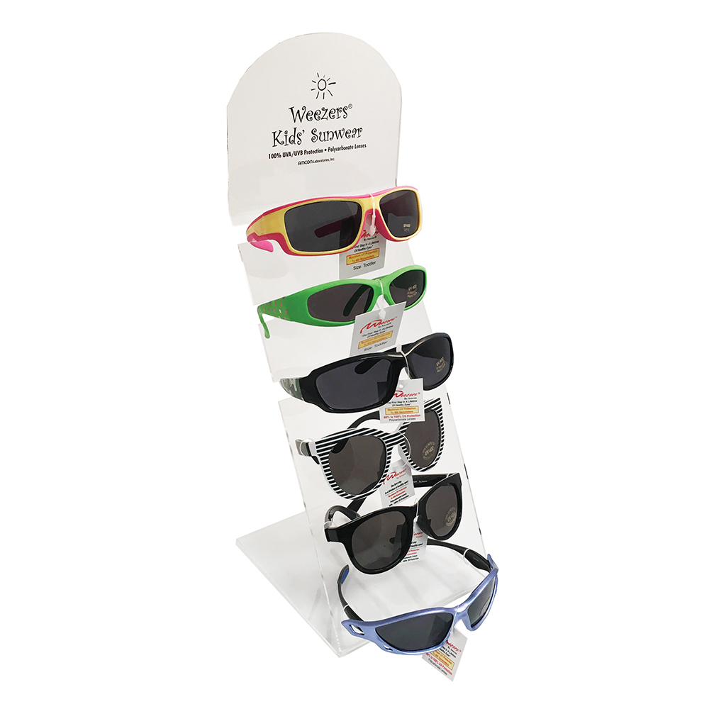 Clearly Colorful Weezers™ Sunglass Display