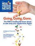 "Gaby, Alan R. ""How FDA Regulations Regarding Natural Medicine Harm the Public"" Health Freedom News 30.1 (2012): 7-8. Print"